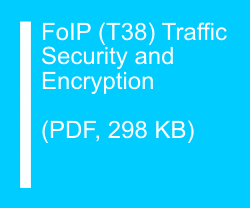FoIP (T38) Traffic Security and Encryption